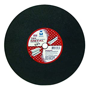 "Mercer Industries 607040 Gas Saw Cut-Off Wheels for Ferrous Metals, 14"" x 1/8""(5/32) x 20mm, 10 Pack"
