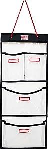 Rough Enough Door Hanging Organizer School Police Locker Organizer Wall Mount Entryway Organizer Closet Locker Cabinet Storage for Home Office Work Law Enforcement Gym Locker Key Cable Accessories