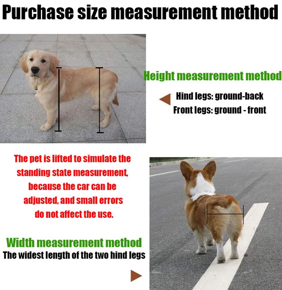 Silla de ruedas para mascotas, 1.5 kg (3.3 lb) - 50 kg (110 lb), ajuste multidireccional, dos ruedas, adecuado para perros grandes y pequeños, gatos y otros ...