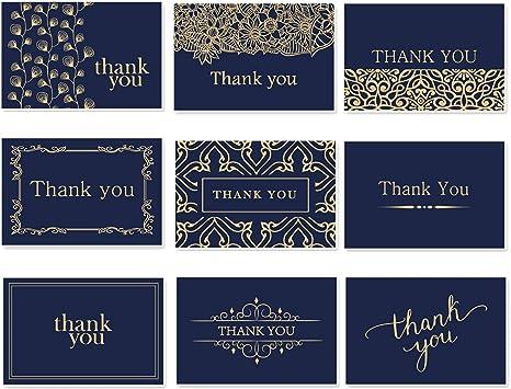 Amazon.com: Hermosas tarjetas de agradecimiento con sobres ...