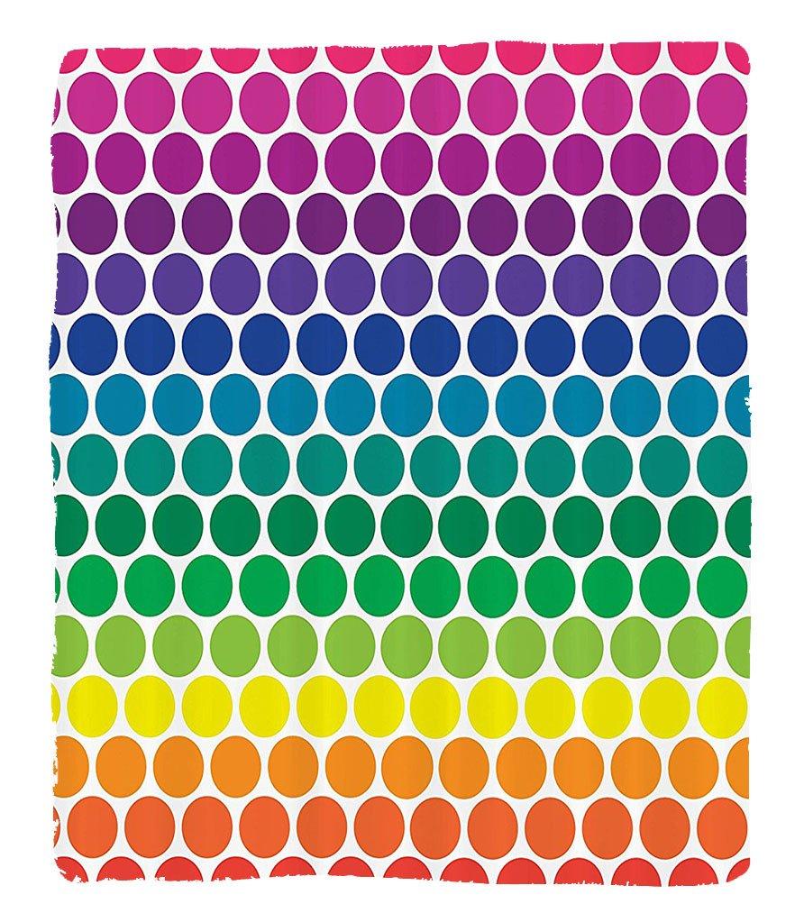 Chaoran 1 Fleece Blanket on Amazon Super Silky Soft All Season Super Plush Illustration of Bright Rainbow Colored Dots Big Circlespots Play Kids Theme Fabric et by chaoran