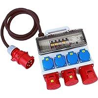 Baustromverteiler Adapter Stromverteiler Steckdosenleiste Schutzschalter 16A