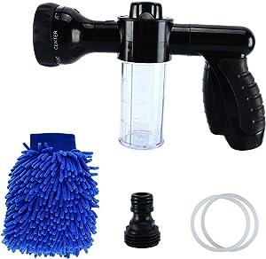 8MILELAKE Foam Sprayer Garden Hose Spray Nozzle Car Wash Foam Gun Snow Foam Lance