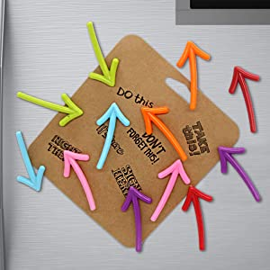 Cosylove 12pcs Arrow Shape Refrigerator Magnets Creative, Whiteboard Message Magnetic Stickers, Fridge Magnets For Office Cabinets, Photos, Beautiful Decorative Magnets For Holiday Gift, Decor Home