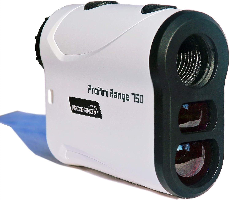 PROADVANCED ProMini Range 750 - Laser Rangefinder - Top Accuracy - PinLock Vibration - 1 Year Warranty - for Golf, Hunting