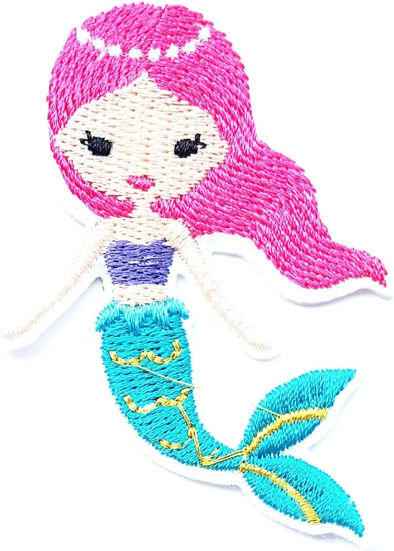 "Mermaid Hair And Salty Hair 3/"" Sew Iron On Patch Beach Ocean Lover Sea Gift"
