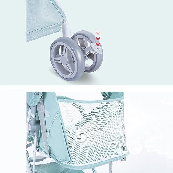 &Carrito de bebé Carro de bebé Ligero plegable/cochecito de bebé Ultraligero y pequeño portátil/barra de tiro tipo Verano (Color : 1#): Amazon.es: Bebé
