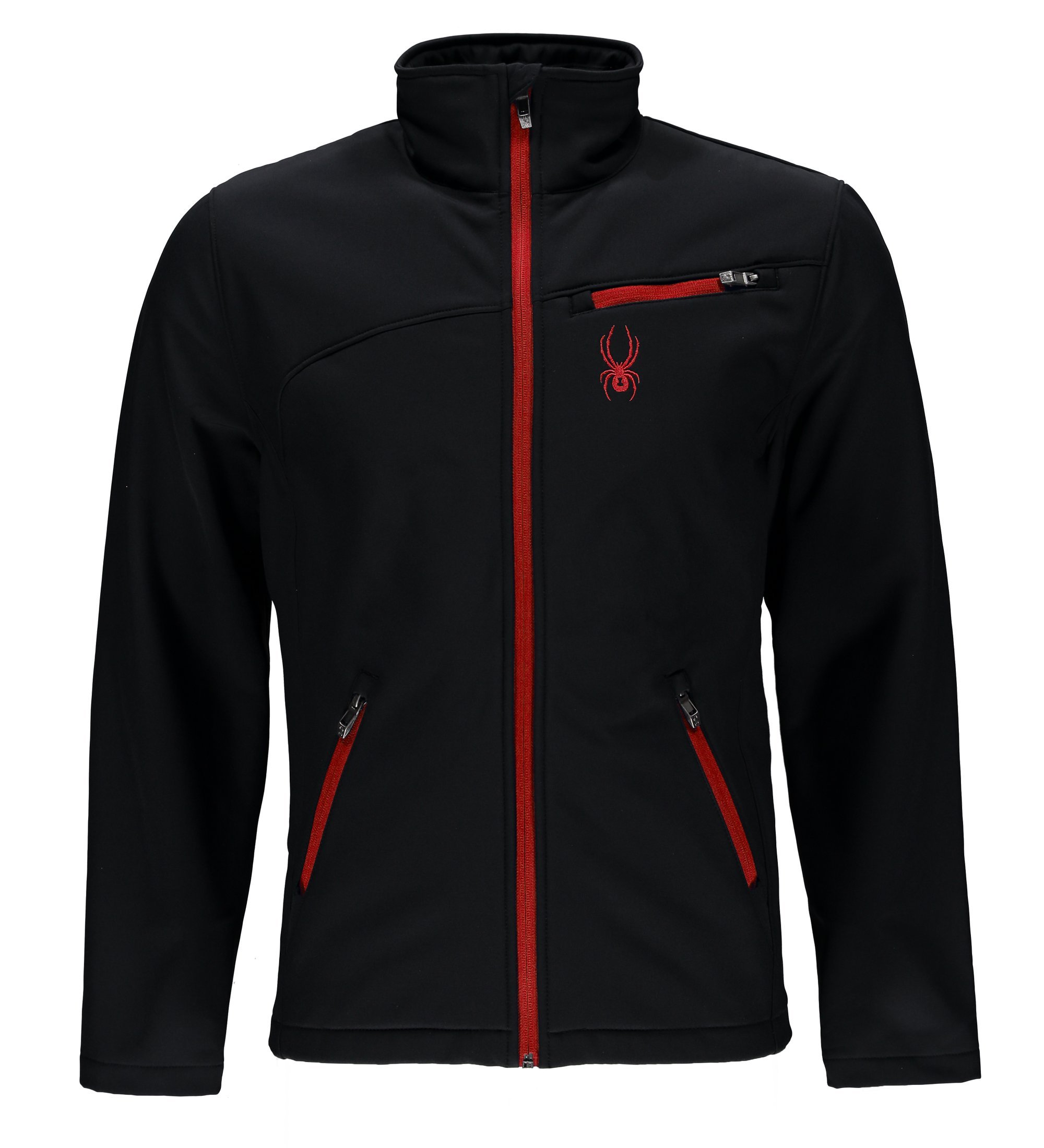 Spyder Men's Softshell Jacket, Black/Racing Red, X-Large by Spyder