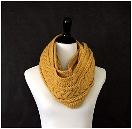 Amazon Cable Knit Infinity Scarf Knit Cowl Scarf Eternity