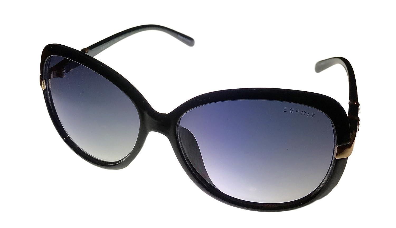 1a77fe8ce9f Amazon.com  Esprit Women s ET 19456 538 Oversized Square Black Plastic  Sunglass  Clothing