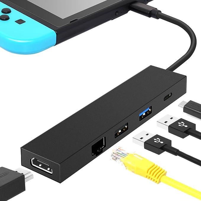 MENEEA HDMI Tipo C Hub Adaptador para Nintendo Switch[Actualizado ...