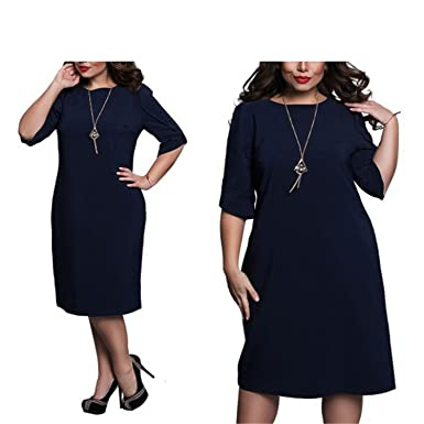 Dark Blue Straight Dresses