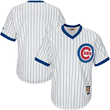 Big Jersey Base Chicago Vf V Neck Sizes Cooperstown Mlb Majestic Tall amp; Cubs Pinstripe Mens White Cool|Packer Fans United