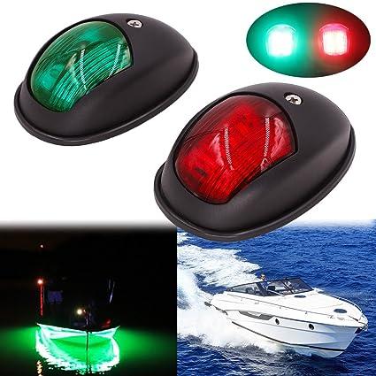 Obcursco Led Boat Navigation Lights Boat Bow Light Marine Boat Navigation Lamp Perfect For Pontoon Skeeter Power Boat And Skiff Black