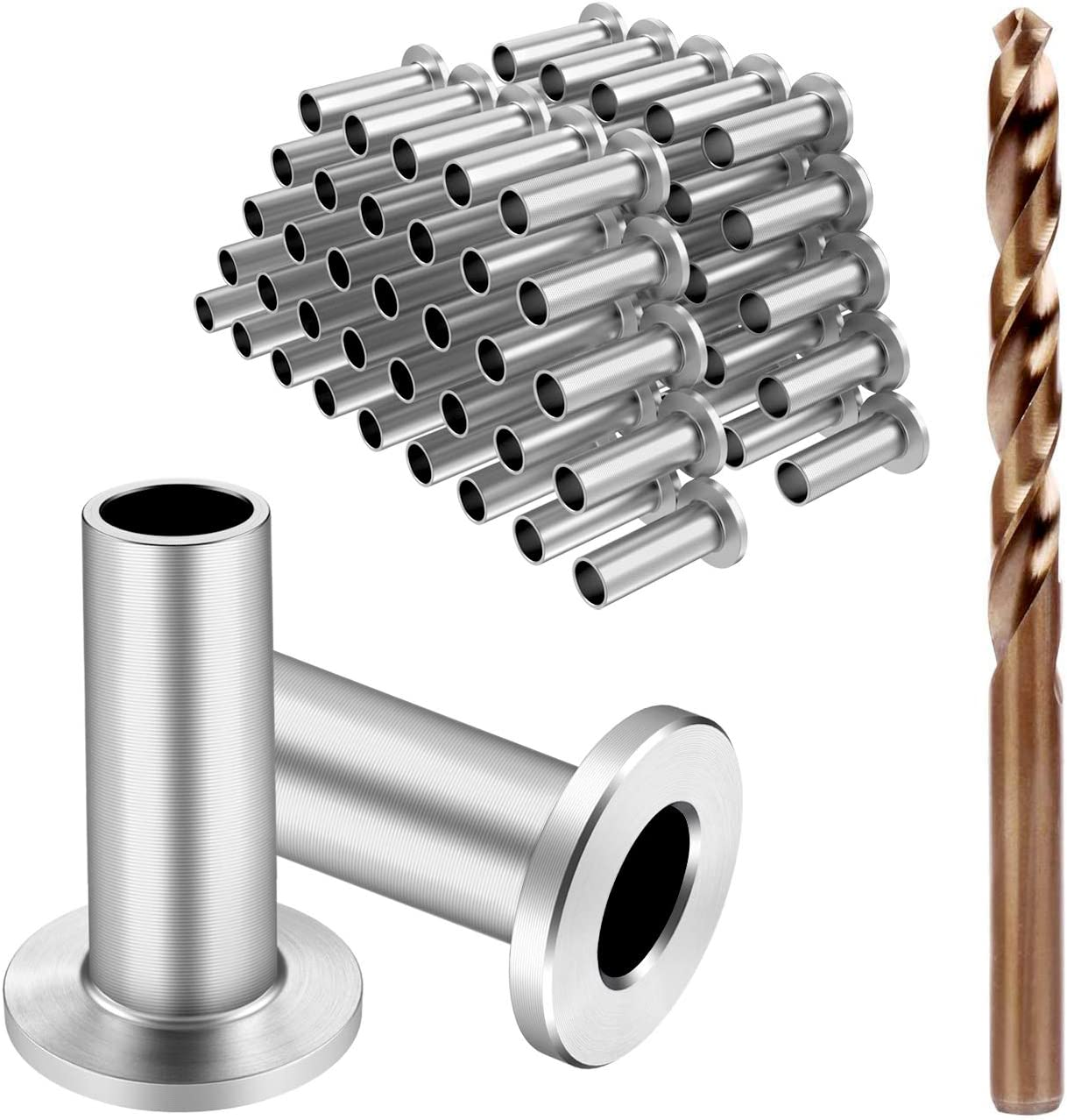 GraceMake Stainless Steel Protector Sleeves for 1//8 Wire Rope Cable Railing System Wood Post,DIY Balustrade Hardware T316 Marine Grade,Come with Matching Drill Bit,20 Pack