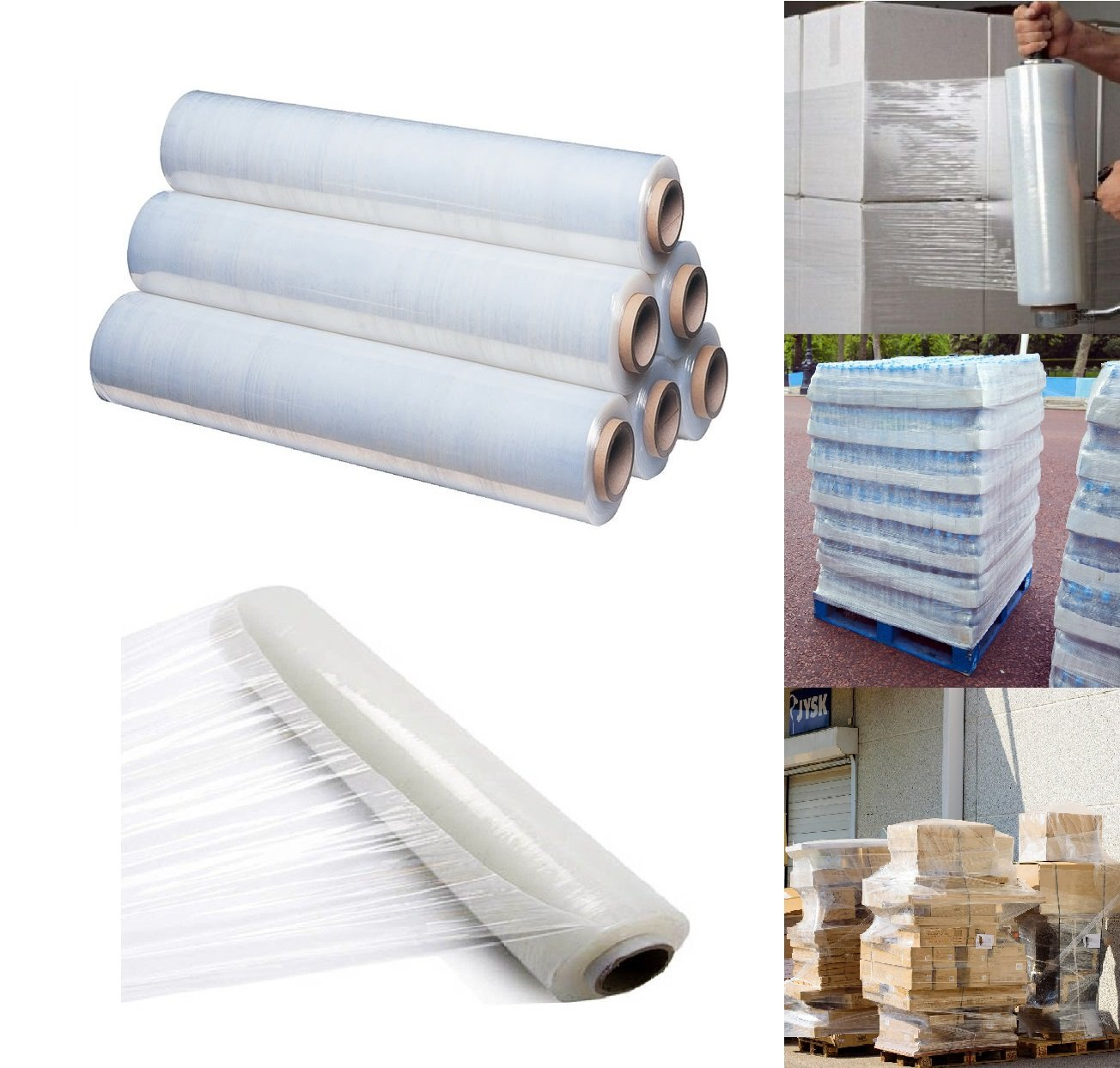 400mm X 250 meter Rolls Clear Pallet Stretch Shrink Wrap Parcel Packing Cling Film Pack of 1 St@llion 400 mm X 250 meter 17 micron Shrink Wrap