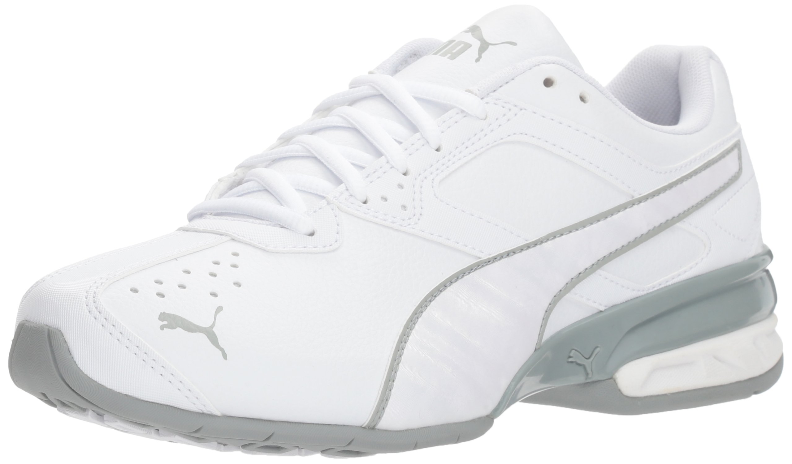 PUMA Women's Tazon 6 IRI Wn Sneaker White-Quarry, 5.5 M US