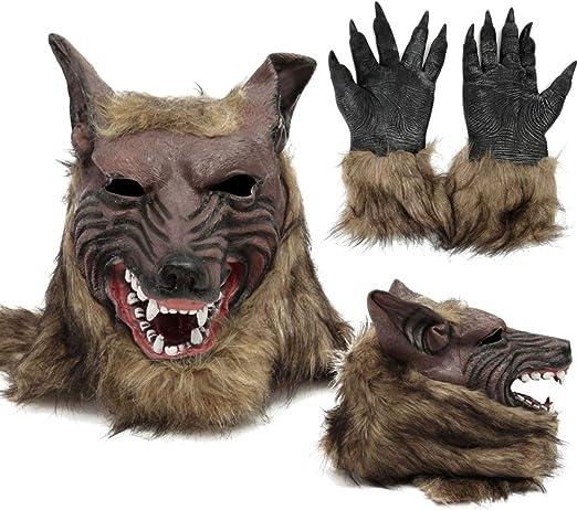 donfhfey827 - Máscara de Goma para Disfraz de Hombre Lobo: Amazon ...