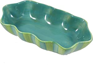 Southern Living at Home, Provence, Green 11-Inches Ruffled Serving Bowl, Designed by Gail Pittman