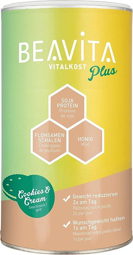 BEAVITA Vitalkost sabor Cookies & Cream - Batido sustitutivo de comida 572g - SOLO 208 kcal - Bebida dietética - Suplemento para adelgazar - Con proteína, vitaminas y minerales - Fórmula inteligente: Amazon.es: Salud y cuidado personal