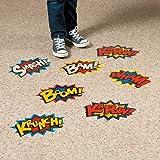 Superhero Floor Decals. Vinyl. (12 Pack)