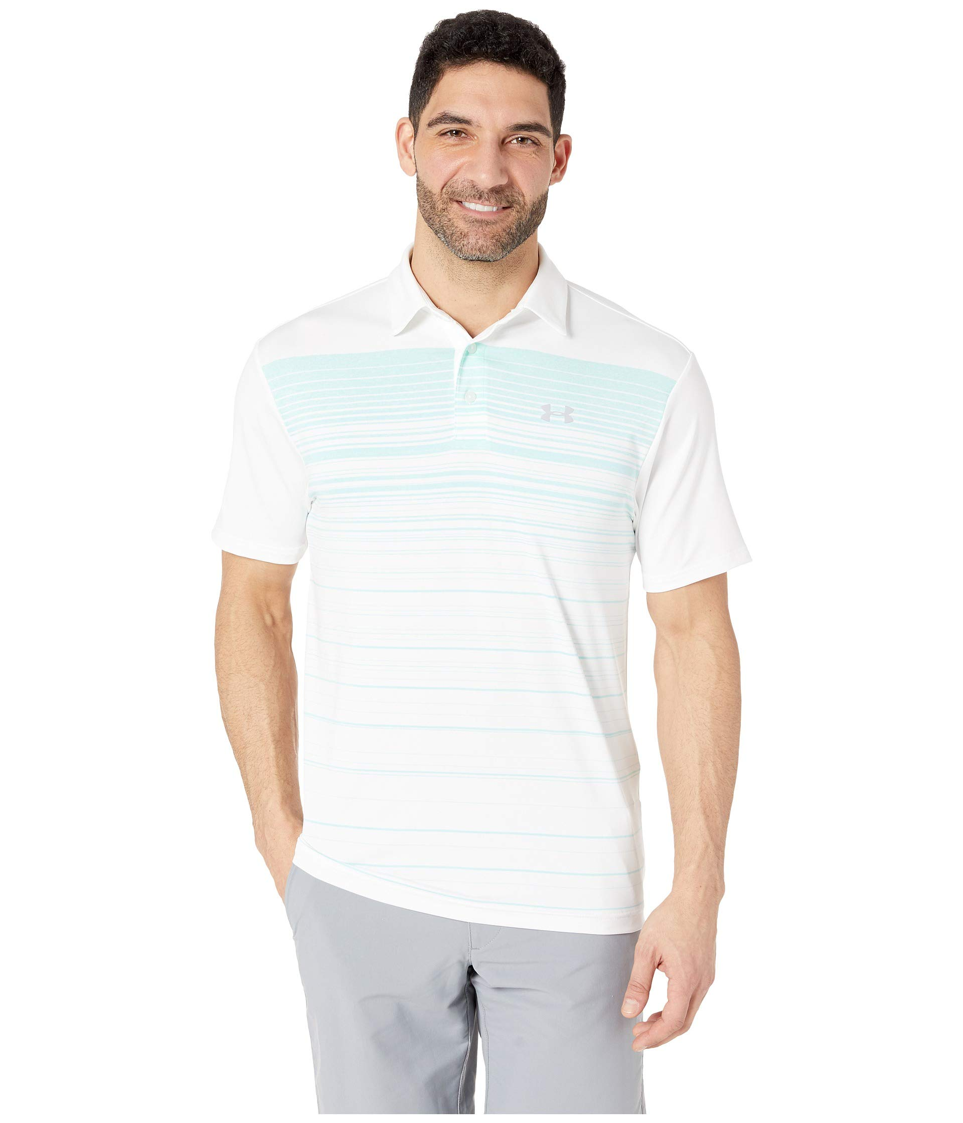 Under Armour Golf Men's Playoff Polo 2.0 White/Neo Turquoise/Mod Gray XXX-Large