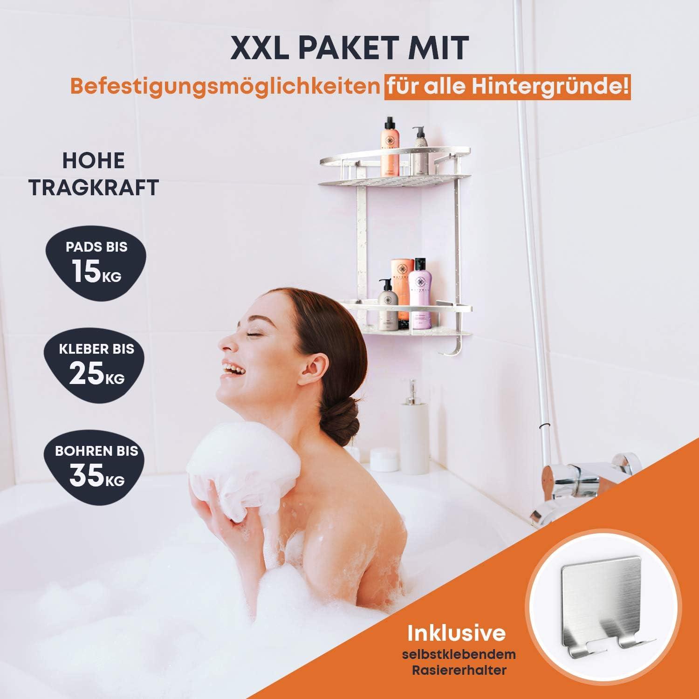 Greenroxx Mensola da bagno senza fori, di alta qualità