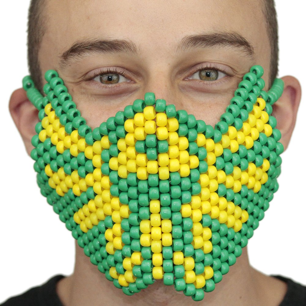 Zelda Tri Force Music Festival edc Full Kandi Mask by Kandi Gear