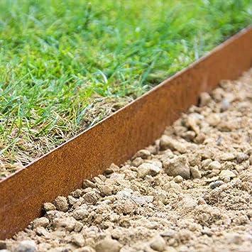Cortenstahl Garten rasenkante beeteinfassung wegbegrenzung multi edge cortenstahl 10m