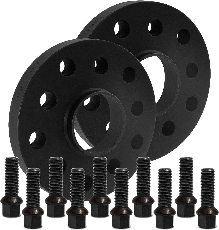 12118W/_38/_M1415KU38Q mit Schrauben schwarz 5x112 57,1mm BlackLine Spurverbreiterung 20mm 10mm