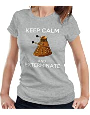 RHEYJQA Keep Calm and Exterminate Doctor Who Women's T-Shirt