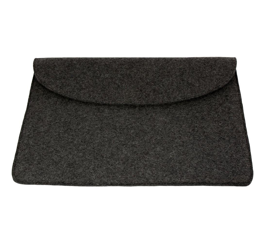 Mojopanda Virgin Organic Wool Felt 13-13.5 Inch Macbooks, Laptop Grey Sleeve Case Carrying Bag With 2 Back Pouches For Mobile Phones And An Inner Packet For Tab, Ipad Or Power Chord. by MOJO PANDA (Image #7)