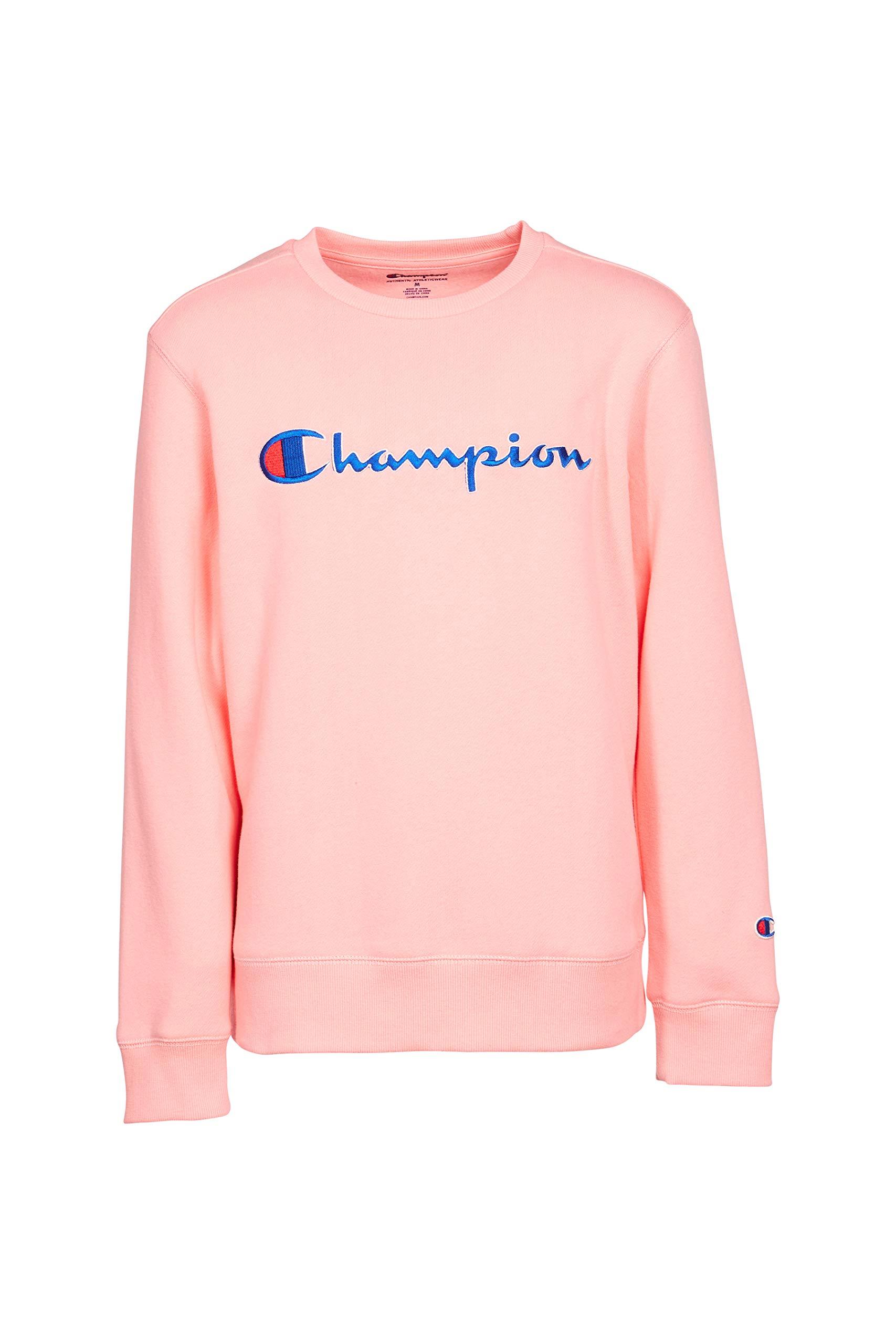 Champion Unisex Heritage Boy and Girls Fleece Pullover Champion Scipt Sweatshirt