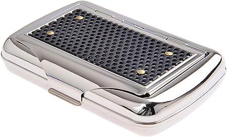Imagen deQuantum Abacus Tabaquera con Soporte para el Papel, de Acero Inoxidable, Elegancia clásica, Mod. 770-02 (DE)