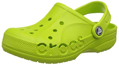 a9519c06890744 crocs Kids Unisex Baya Volt Green Clogs and Mules  Buy Online at Low Prices  in India - Amazon.in