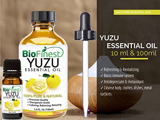 amazon com biofinest japanese yuzu essential oil 100% pureamazon com biofinest japanese yuzu essential oil 100% pure organic therapeutic grade best for aromatherapy, household cleansing ease stress anxiety