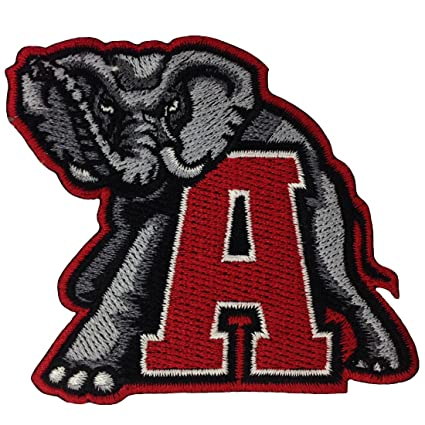 Amazon Alabama Crimson Tide Logo Embroidered Iron Patches