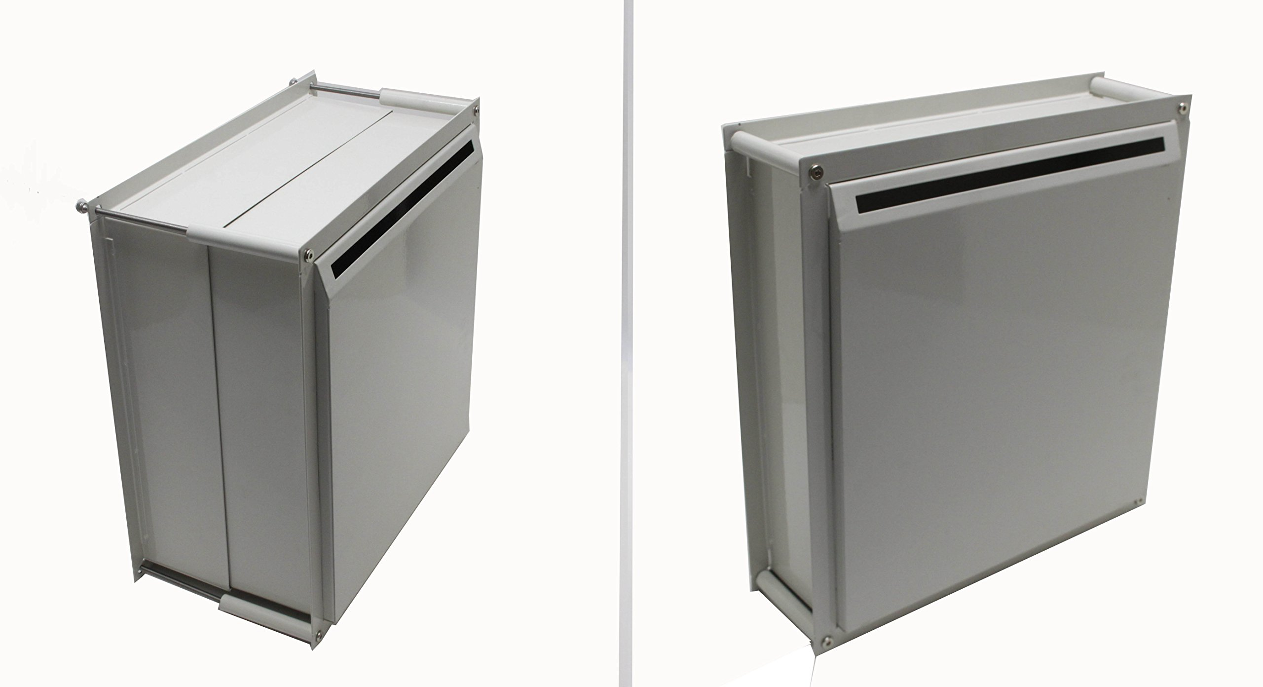 FixtureDisplays Adjustable Thickness Through-The-Wall Letter/Payment Locking Drop Box for 4'' - 8'' Wall 15958