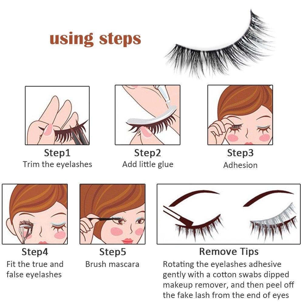 Bulary 3d Cross Fake Eyelashes Natural Thick False Eye Lashes Makeup