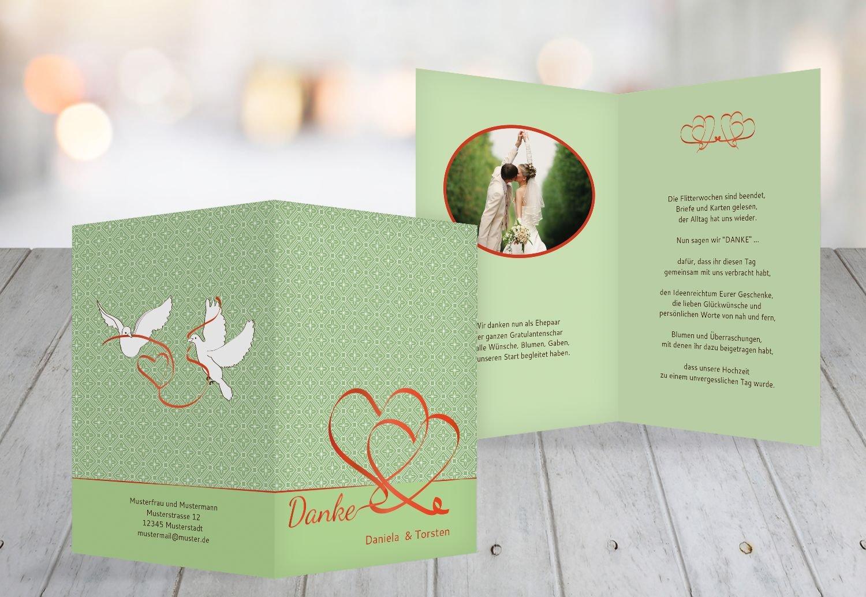 Kartenparadies Danksagung für Hochzeitsgeschenke Hochzeit Dankeskarte Turteltäubchen, hochwertige Danksagungskarte Hochzeitsglückwünsche inklusive Umschläge   20 Karten - (Format  105x148 mm) Farbe  DunkelgrauBraun B01MYAMLH3 | Ve