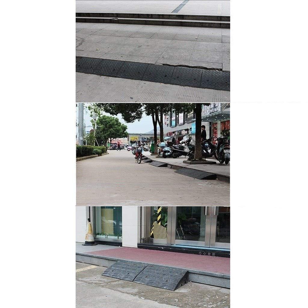 1 Metro di Lunghezza di Gomma Nera Rampe Scuola di Fabbrica Porta di Sicurezza Rampe Altezza 5cm Curb Ramps 3cm Size : 98 * 20 * 5CM 11 way bike CSQ-Rampe Roadside Outdoor Veicolo Rampe