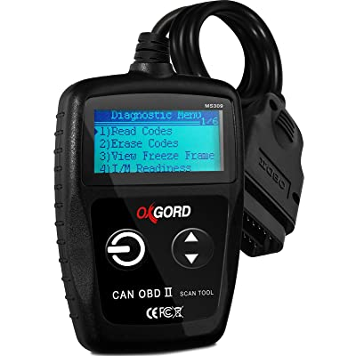 OxGord OBD2 Scanner Code-Reader-Reset Tool MS309 - No Phone or Computer Needed Diagnostic for Cars 1996 and Up - 3000+ Codes - Diagnose Check Engine Light Erros: Automotive