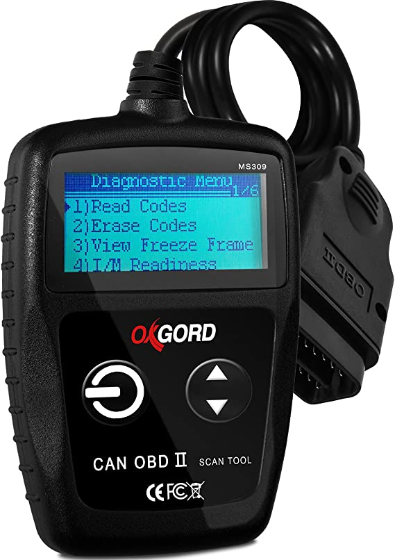 OxGord OBD2 Scanner Code-Reader-Reset Tool MS309 - No Phone or Computer Needed Diagnostic for Cars 1996 and Up - 3000+ Codes - Diagnose Check Engine Light Erros