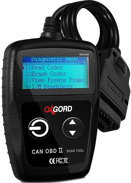 OBD2 Scanner Code Reader Car Diagnostic Tool - OBD 2 Check Engine Light  Scan Auto Computer Readers with Reset - OBD-II Automotive Tools Sensor ABS  Car