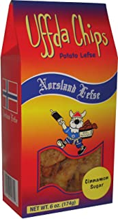 product image for Uffda Chips - Made From Real Lefse By Norsland Lefse (Cinnamon Sugar)
