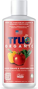 TRUE Organic - Liquid Tomato & Vegetable Food 16oz - CDFA, OMRI, for Organic Gardening…