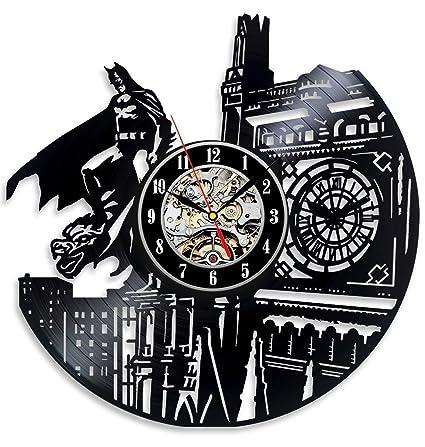 Batman Dark Knight Hero Arkham City DC Comics Movie Characters Vinyl Record  Design Wall Clock - Decorate your home with Modern Famous Batman Dark