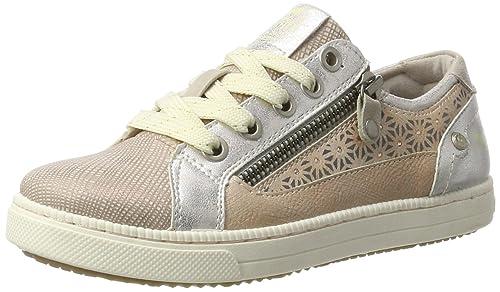 Mustang 5042-302-555, Zapatillas Para Niñas, Rojo (555 Rose), 34 EU: Amazon.es: Zapatos y complementos