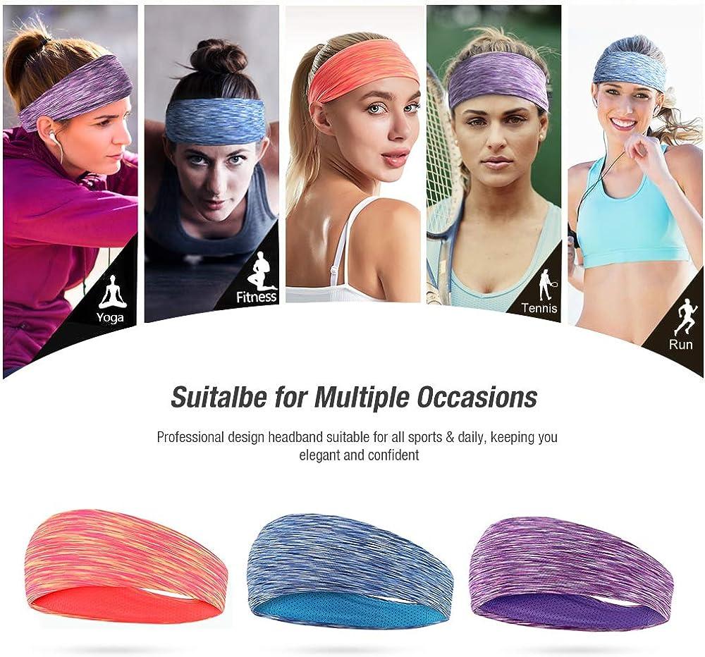 Laufen Stirnband 3 Packs Yoga Wandern LATTCURE Sport Stirnband Fahrrad und Motorrad Fahren Sport Stirnb/änder Schwei/ßband Anti Rutsch f/ür Jogging Tennis