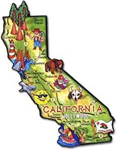 California the Golden State Artwood Jumbo Fridge Magnet